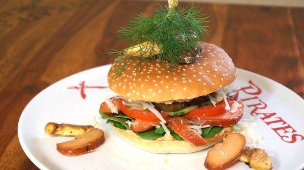 fischrogen burger mit taramas rezept so sieht 39 s aus. Black Bedroom Furniture Sets. Home Design Ideas
