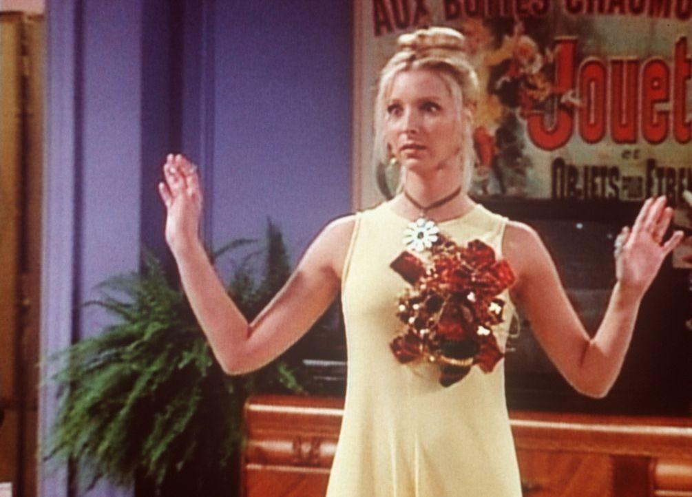 Phoebe (Lisa Kudrow) hat sich für einen Vortragsabend in Ross' Museum schick gemacht. - Bildquelle: TM+  2000 WARNER BROS.