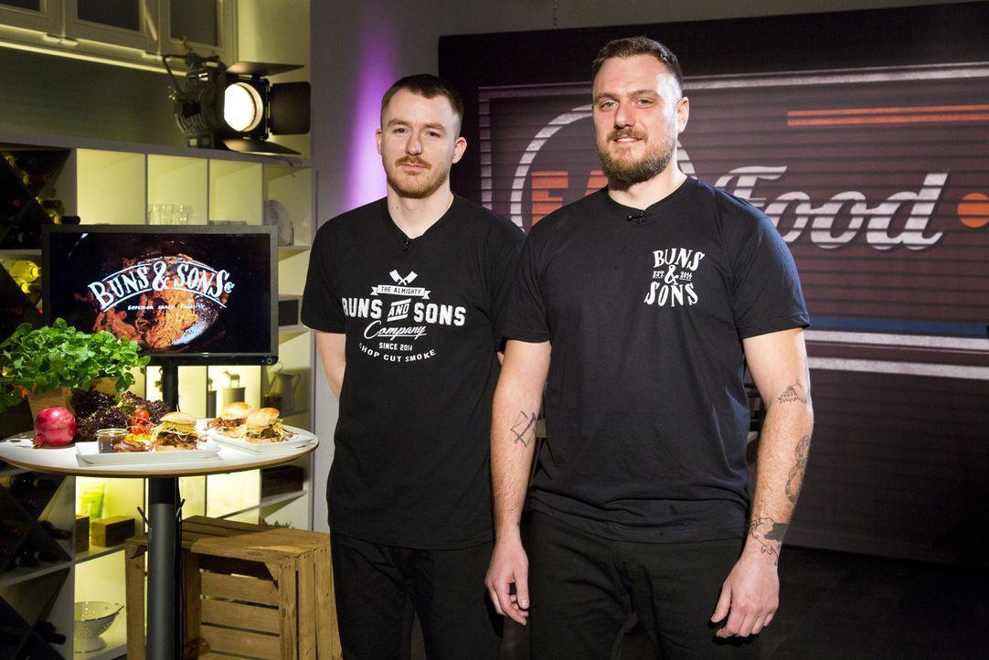 """Wie werden sich Benni Dorp und Ramon Backus von """"Buns & Sons"""" im Kampf um das Startkapital schlagen? - Bildquelle: kabel eins"""