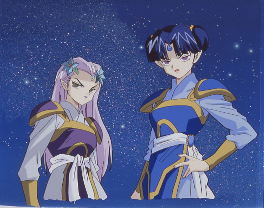 Hari (l.) und Ruri (r.) - Bildquelle: 2001 Rumiko Takahashi / Shogakukan-Yomiuri TV-Sunrise-Sho-Pro-NTV-Toho-Yomiuri-TV Enterprise. All Rights Reserved