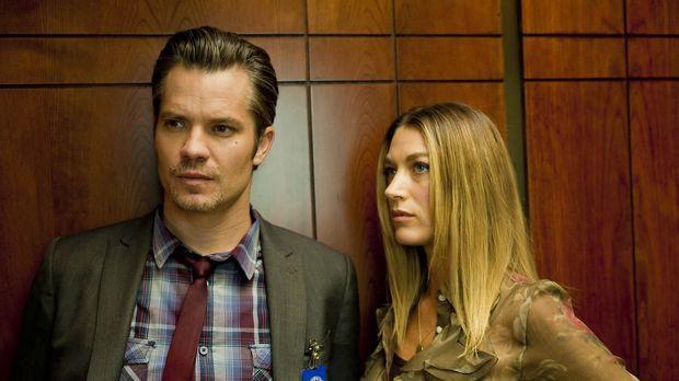 Haben Raylan (Timothy Olyphant, l.) und Winona (Natalie Zea, r.) doch mehr Ge...