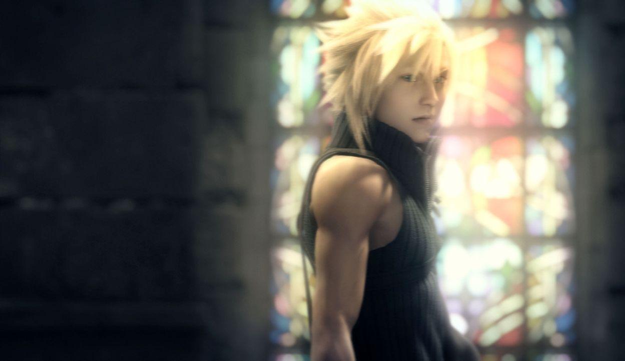 Weil ihn tiefe Schuldgefühle plagen, lebt Cloud ganz alleine und zurückgezogen von der Außenwelt. - Bildquelle: 2005 Square Enix Co., LTD. All Rights Reserved.