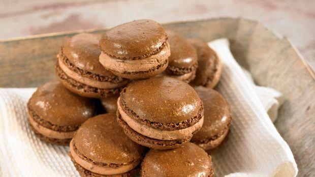 Backrezept: Macarons aus Mandeln und Schokolade