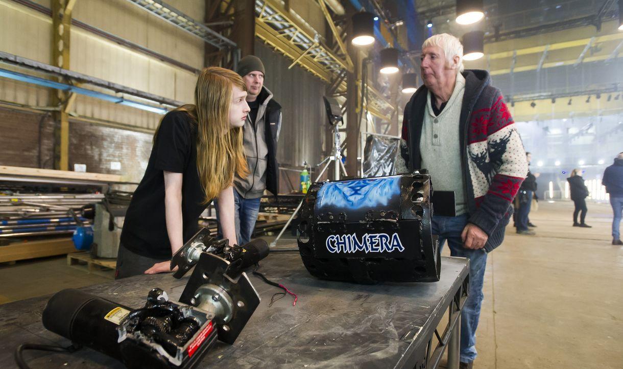 Reicht das technische Know-How von Team Chimera aus, um ihrem Roboter in der Kampfarena zum Sieg zu verhelfen? - Bildquelle: Alan Peebles