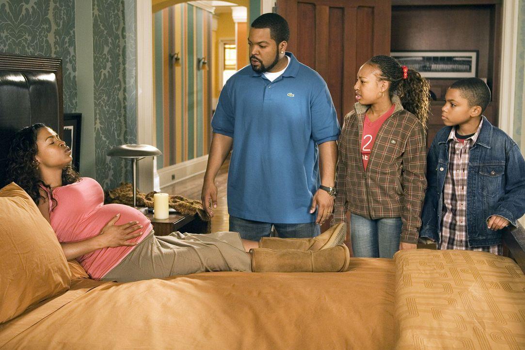 Die Familie (Nia Long, l., Aleisha Allen, 2.v.r., Philip Bolden, r.) wächst, und Nick (Ice Cube, 2.v.l.) muss dringend ein Haus finden. Schnell - v... - Bildquelle: 2007 Revolution Studios Distribution Company, LLC. All Rights Reserved.