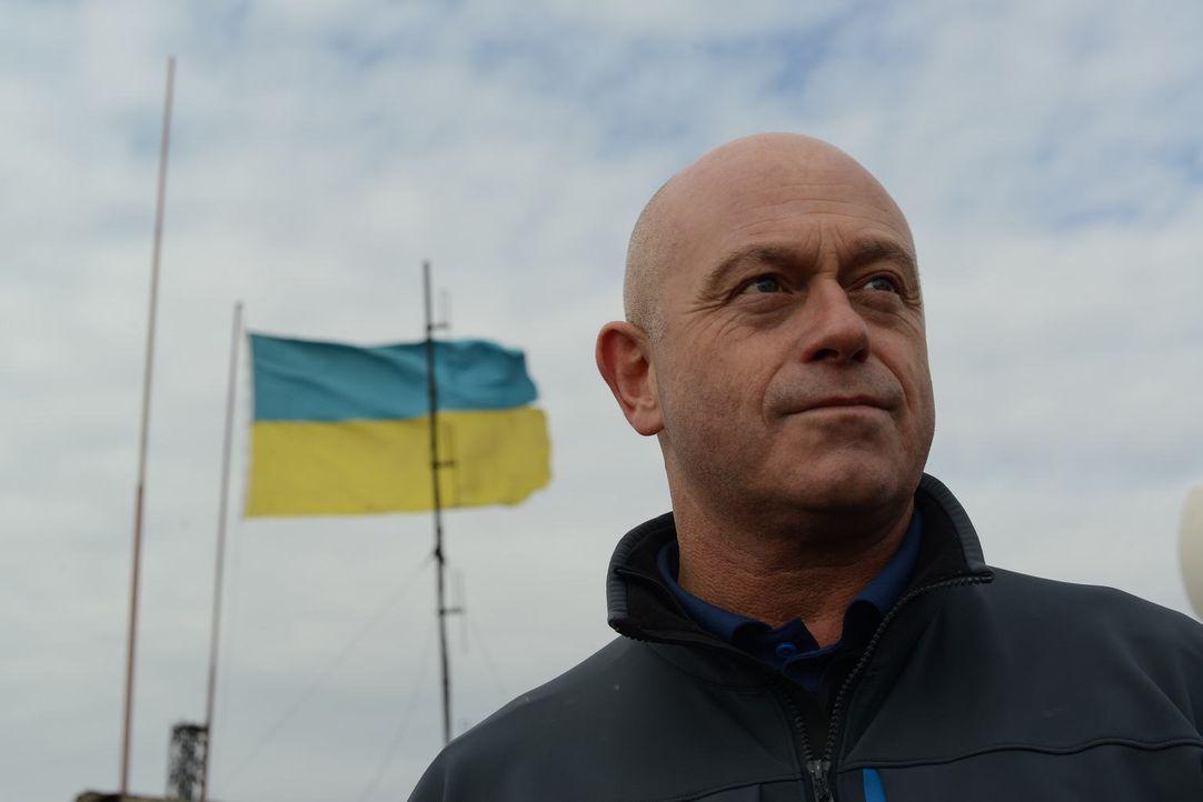 Die Ukraine befindet sich in einer gefährlichen Zeit des Umbruchs. Ross Kemp stattet gewaltbereiten Hooligans einen Besuch ab, spricht mit Mitgliede... - Bildquelle: Freshwater Films Ltd 2015