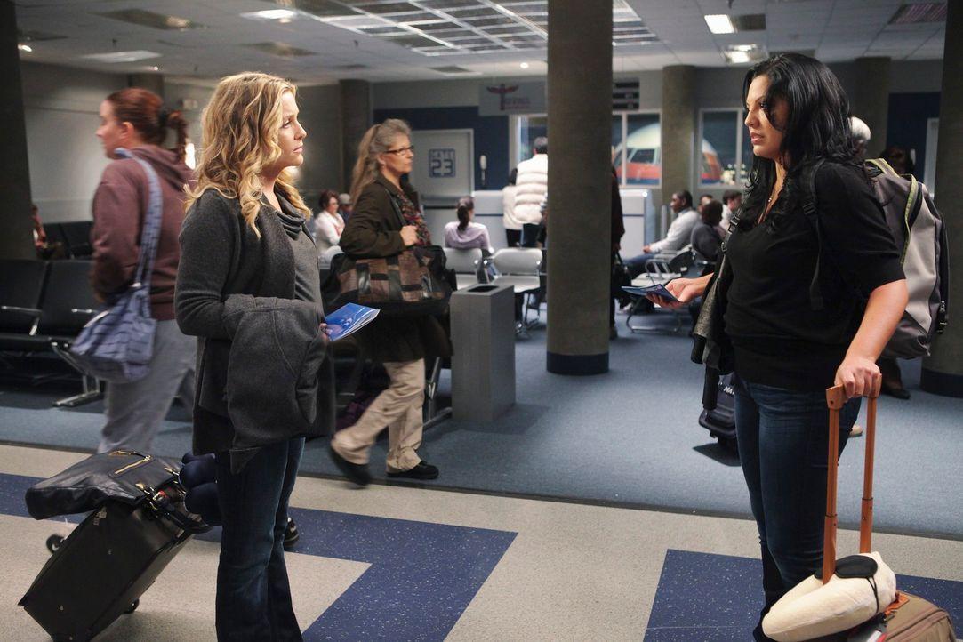 Haben sich ihren Abschied am Flughafen anderes vorgestellt: Arizona (Jessica Capshaw, l.) und Callie (Sara Ramirez, r.) ... - Bildquelle: ABC Studios