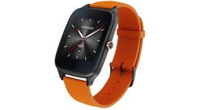 ZenWatch 2 mit Rubber-Band in orange