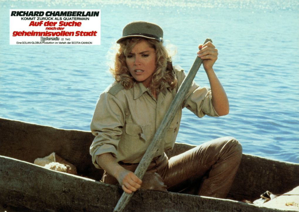 Auf abenteuerlicher Suche in Afrika: Jesse Huston (Sharon Stone) ist zum zweiten Mal mit Allen Quatermain unterwegs. - Bildquelle: Cannon Films