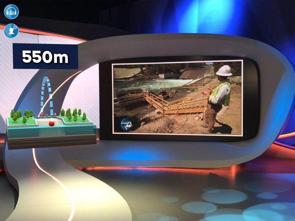 """Ein Zug, der mitten durchs Wohnzimmer fährt? Eine Weltkugel, die neben dem Fernseher schwebt? """"Galileo"""" macht's möglich. In der """"Augmented-Reality-W... - Bildquelle: ProSieben"""