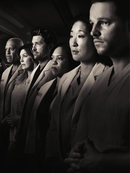 (7. Staffel) - Neues aus dem Seattle Grace Hospital: (v.l.n.r.) Dr. Webber (James Pickens, Jr.), Dr. Grey (Ellen Pompeo), Dr. Shepherd (Patrick Demp... - Bildquelle: ABC Studios