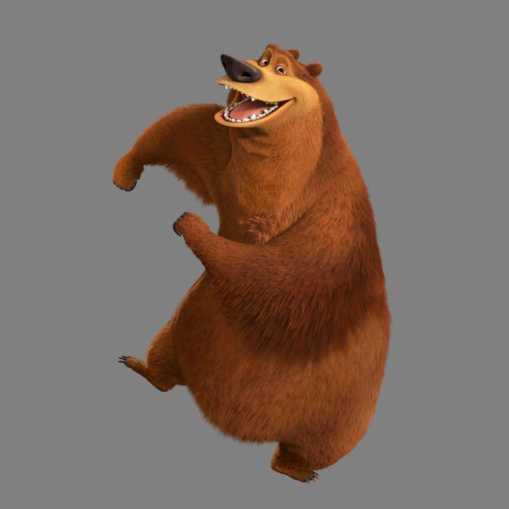 Er kann auch alleine Spaß haben: Grizzlie Boog macht sich zu einem einsamen Jungs-Trip auf und findet seine große Liebe ausgerechnet in einem Zirkus... - Bildquelle: 2010 Sony Pictures Animation Inc. All Rights Reserved.