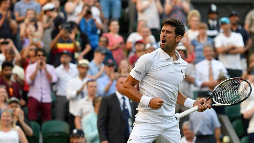 Novak Djokovic erreicht das Achtelfinale von Wimbledon - Bildquelle: AFPSIDBen STANSALL