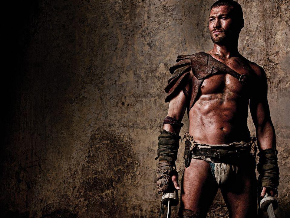 Spartacus (Andy Whitfield) stammt aus Thrakien und kämpft zunächst auf Seiten der Römer. Als er diesen die Gefolgschaft verweigert, wird gefangen ge... - Bildquelle: 2009 Starz Entertainment, LLC