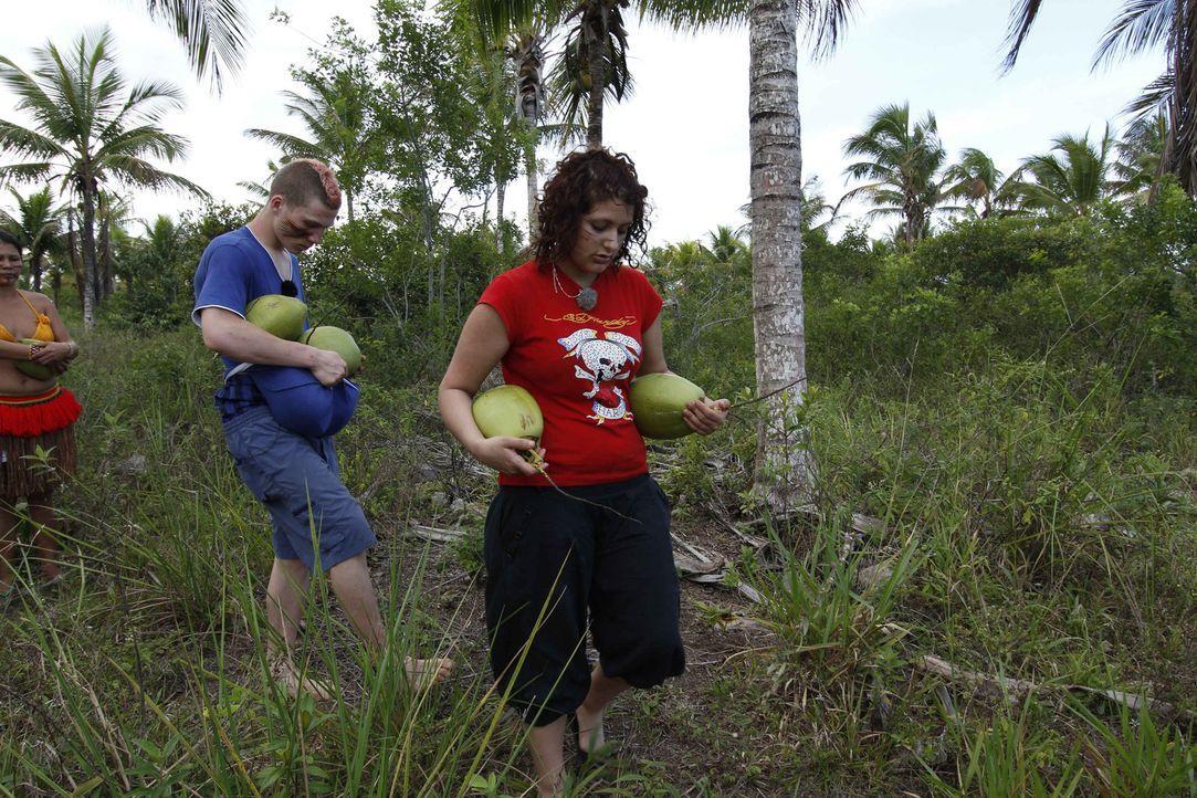 Für Maurice (l.) und Angelina (r.) geht es in das kleine Dorf der Pataxó-Indianer in Brasilien. Zwischen Schlingpflanzen, Sumpfgebieten und unzählig... - Bildquelle: kabel eins