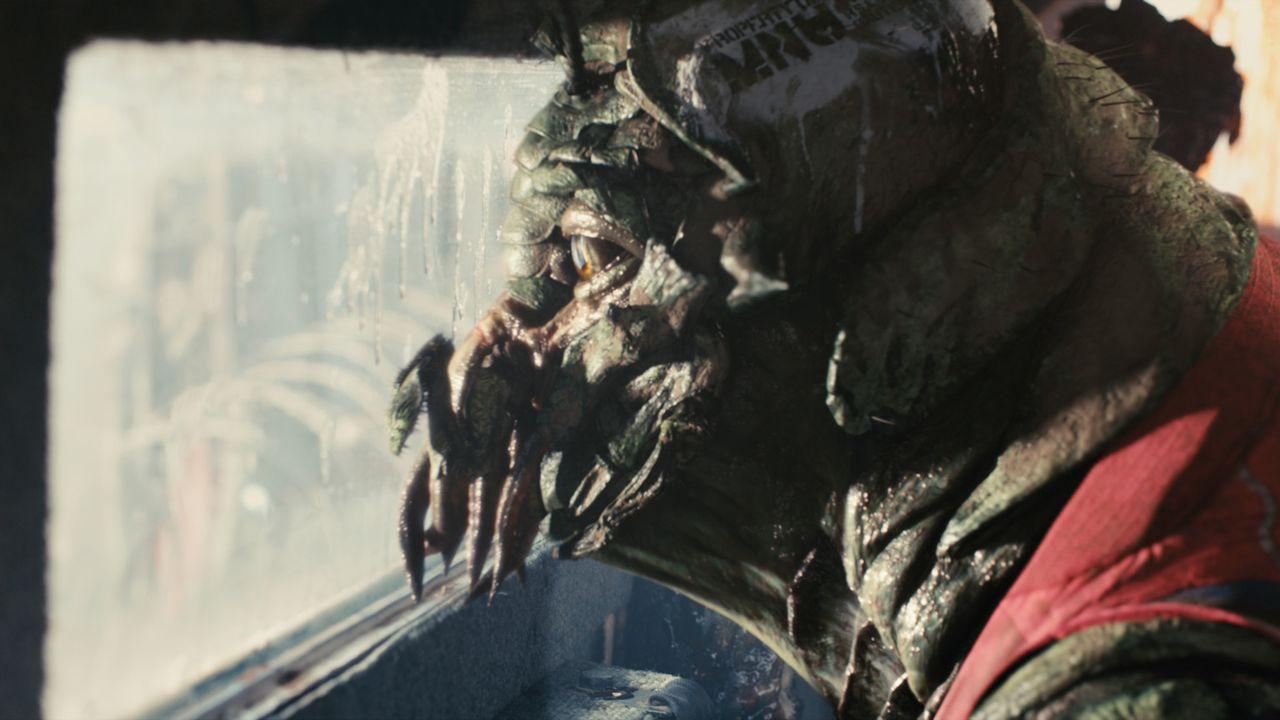 Seit fast 30 Jahren verharren Außerirdische mit ihren Raumschiffen im Luftraum über der Erde. Sie sind von ihrem Heimatplaneten geflohen und wurde... - Bildquelle: 2009 District 9 Ltd. All Rights Reserved.