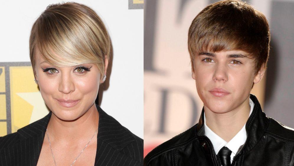 The Big Bang Theory Star Kaley Cuoco Sweeting Justin Bieber Frisur