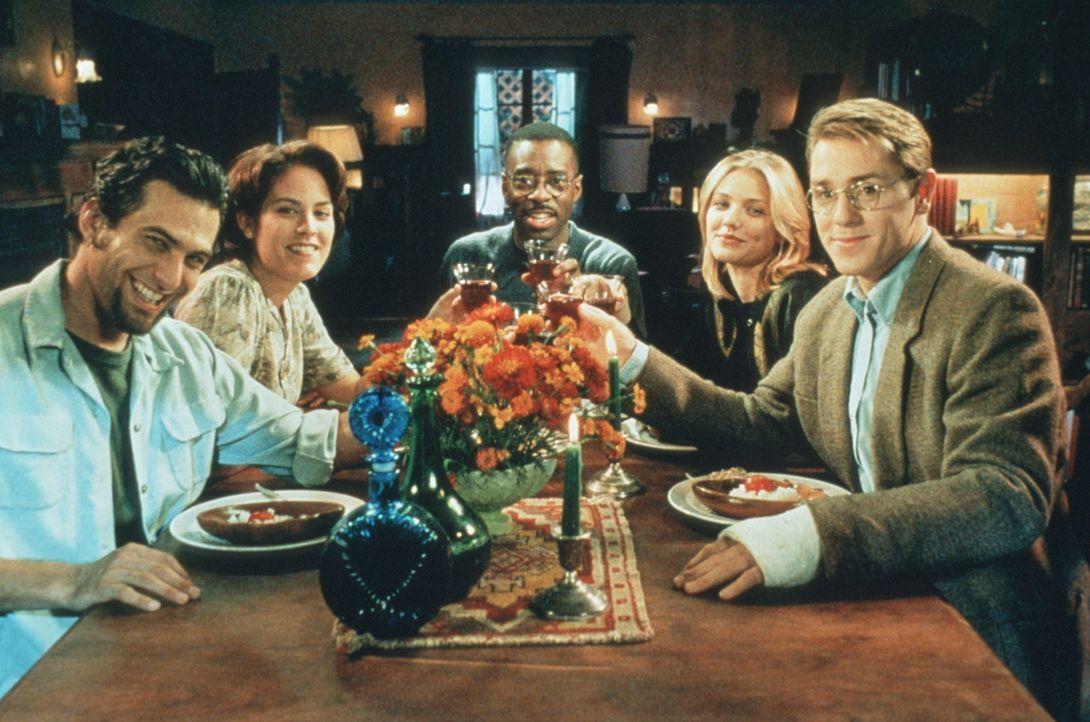 Jeder darf mal morden - ob Pete (Ron Eldard, r.), Jade (Cameron Diaz, 2.v.r.), Marc (Jonathan Penner, M.), Paulie (Annabeth Gish, 2.v.l.) oder Luke... - Bildquelle: Columbia Pictures Corporation