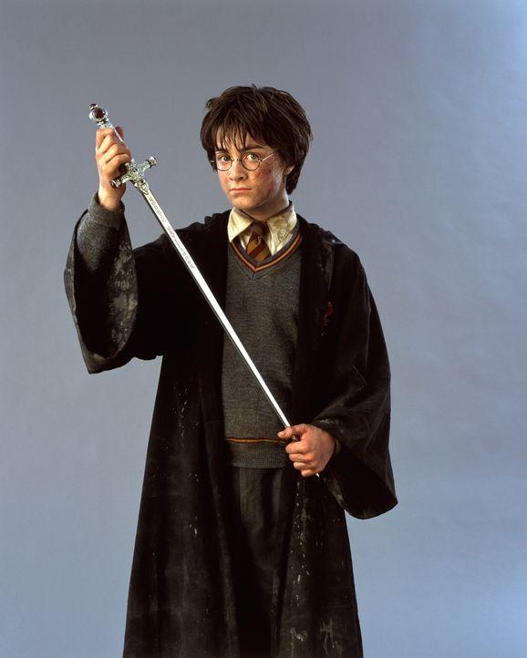 Macht sich auf, der finsteren Macht, die seine geliebte Schule bedroht, den Garaus zu machen: Harry Potter (Daniel Radcliffe) ... - Bildquelle: Warner Bros. Pictures