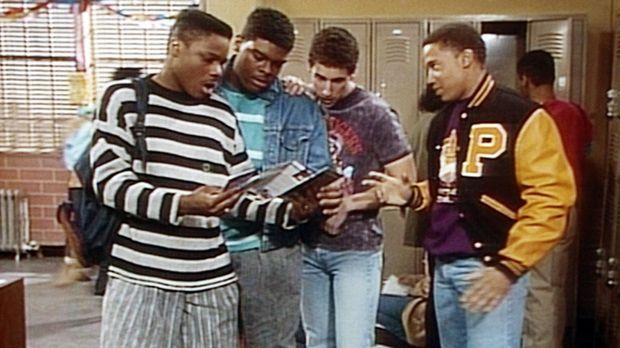 Der Abschlussball steht vor der Tür, und Theo (Malcolm-Jamal Warner, l.) und...