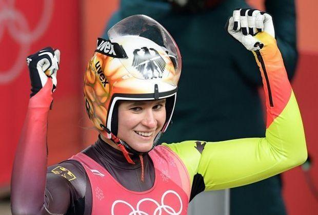 Natalie Geisenberger führt den deutschen Doppelsieg an