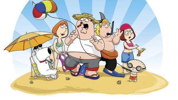 (8. Staffel) - Eine Mittelklasse-Familie: Chris (3.v.r.), Brian (l.), Peter (...