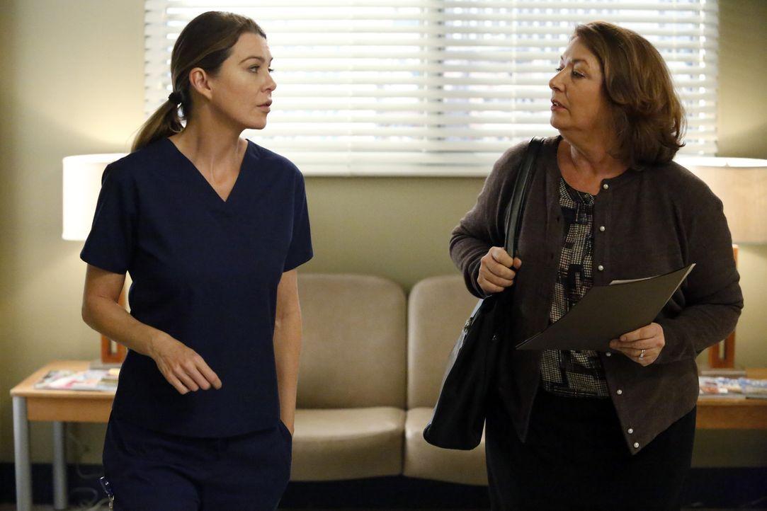 Noch nicht richtig von der Trennung mit Derek erholt, sucht Meredith (Ellen Pompeo, l.) schon nach einer Nanny (Maggie Egan, r.) für ihre Kinder ... - Bildquelle: ABC Studios