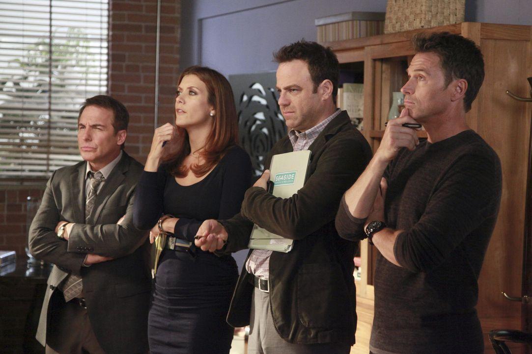 Während Amelia im Drogenrausch Ryan kennenlernt und mit ihm abhängt, stehen Sheldon (Brian Benben, l.), Cooper (Paul Adelstein, 2.v.r.) und Pete (... - Bildquelle: ABC Studios
