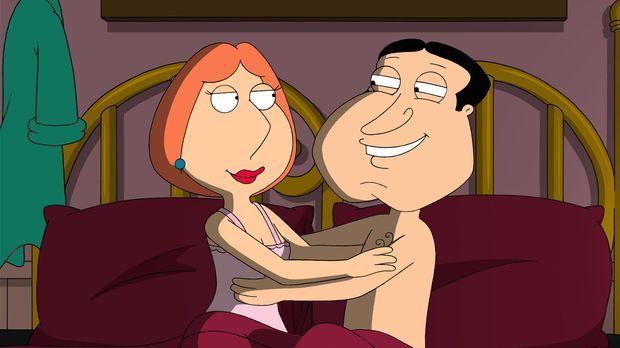 Quagmire (r.) und Lois (l.) landen gemeinsam im Bett ... © 2007-2008 Twentiet...