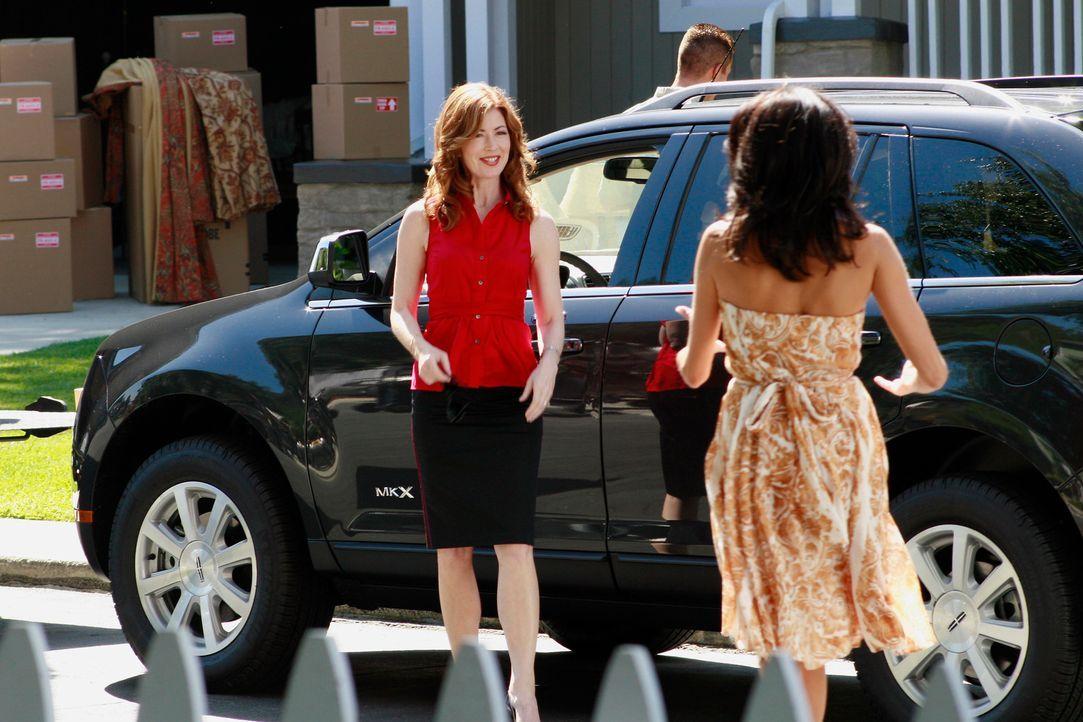 Eine alte Bekannte von Susan (Teri Hatcher, r.), Katherine (Dana Delany, l.), zieht mit ihrer Familie in die Wisteria Lane. Zunächst wird sie von al... - Bildquelle: ABC Studios