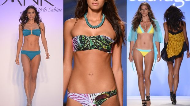 Die Bikini-Trends 2013 sind bunt und sexy! Romantische Blumenprints, knallige...