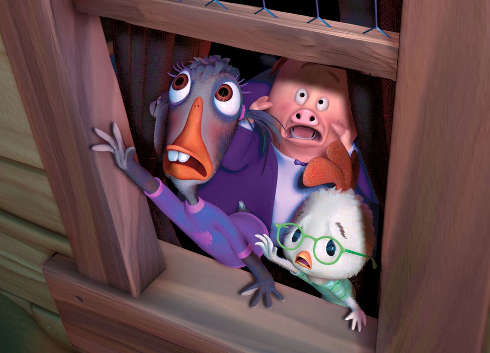 Müssen eine Invasion von Außerirdischen verhindern: Aber wer wird den drei Kindern (v.l.n.r.) Susi Schnatter, Ed von Speck und Hühnchen Junior sc... - Bildquelle: Disney. All rights reserved