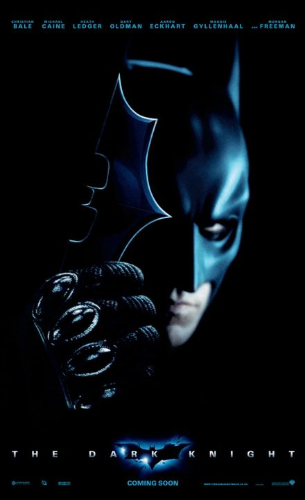 THE DARK KNIGHT - Plakatmotiv - mit Christian Bale als Bruce Wayne alias Batman - Bildquelle: Warner Bros.
