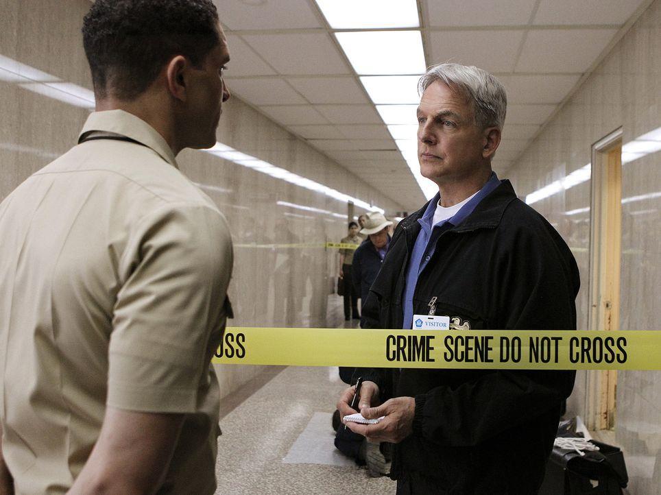 Lieutenant Lauren Ross wird im Pentagon ermordet. Gibbs (Mark Harmon, r.) und sein Team beginnen mit den Ermittlungen ... - Bildquelle: CBS Television