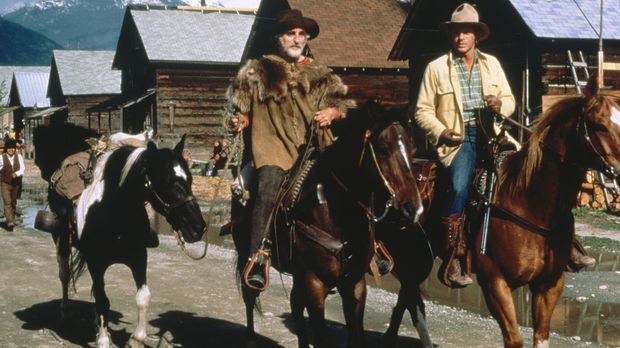 Trapper Bagshaw (Jeff Corey, l.) gibt dem Greenhorn Jacob Taylor (Morgan Stev...