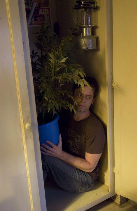 Aus lauter Angst von der Polizei, hat sich Andy (Justin Kirk) einen sichern Platz gesucht ... - Bildquelle: Lions Gate Television