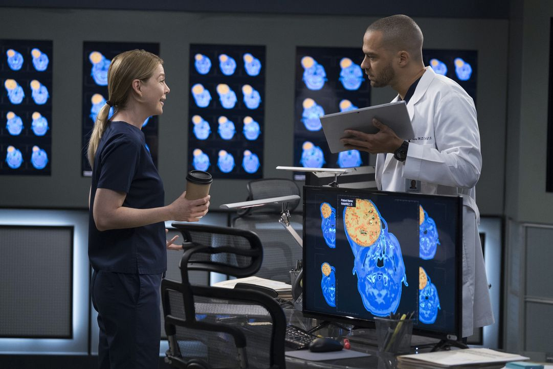 Ein Patient mit einem riesigen Tumor mitten im Gesicht scheidet die Geister. Meredith (Ellen Pompeo, l.) und Jackson (Jesse Williams, r.) wollen ope... - Bildquelle: Eric McCandless 2017 American Broadcasting Companies, Inc. All rights reserved./Eric McCandless