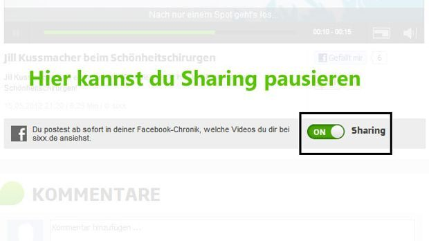 Facebook-Sharing-pausieren