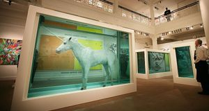 "Damien Hirst ""The Dream"" Formaldehyd konserviertes Einhorn"