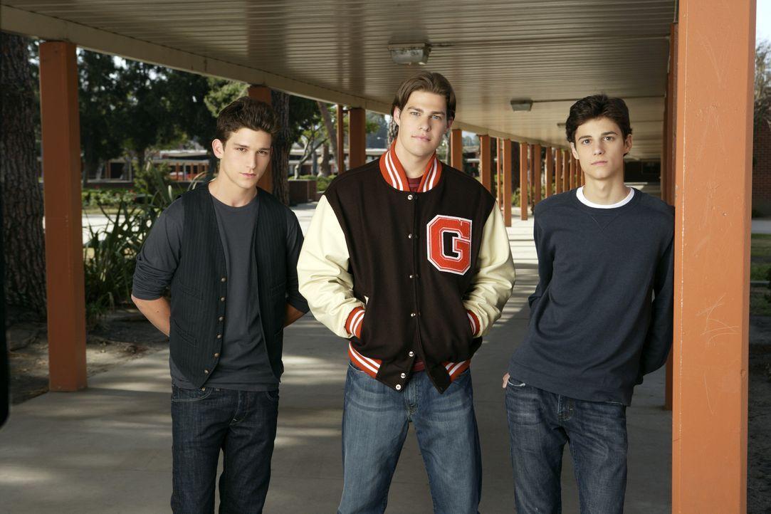 (1. Staffel) - Ihr Leben dreht sich (fast) nur um Sex ... Ricky (Daren Kagasoff, l.) Jack (Greg Finley, M.) und Ben (Kenny Baumann, r.) ... - Bildquelle: ABC Family