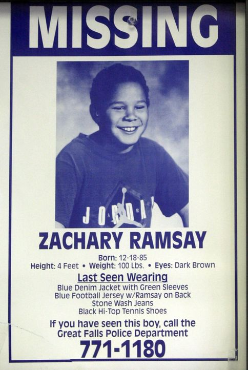 1996 verschwindet der zehnjährige Zachary Ramsay in Montana auf dem Weg zur Schule ...