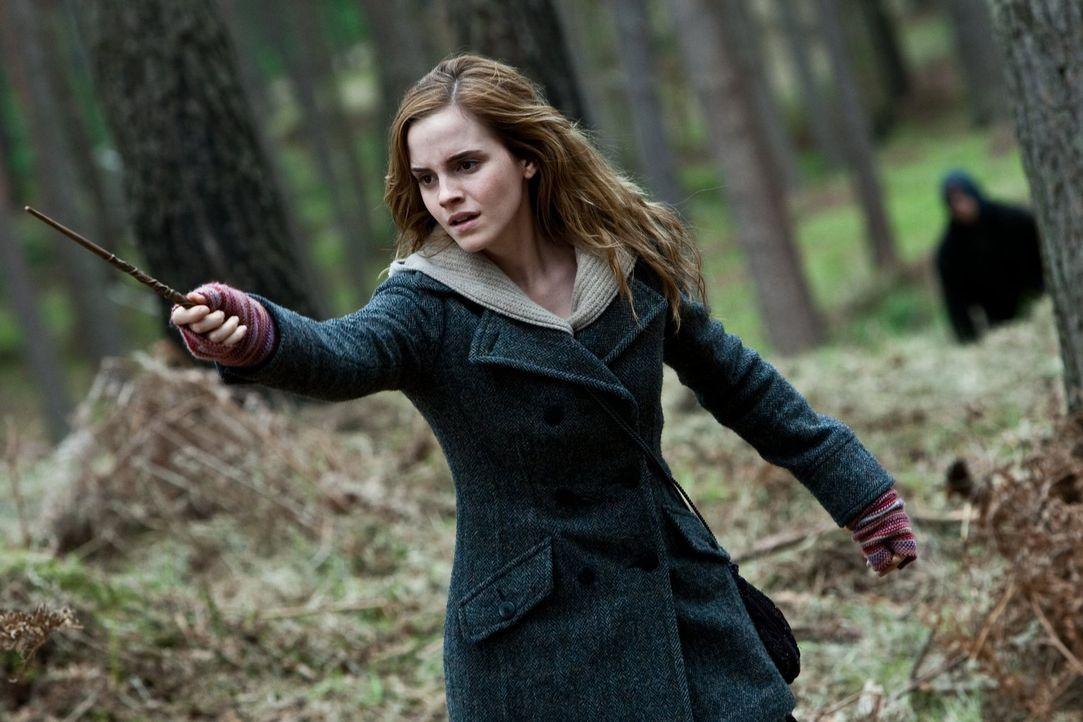 Ein sonderbares Zeichen führt Hermine (Emma Watson) und ihre Freunde zu Xenophilius Lovegood, welcher sie auf die Geschichte der drei Brüder und die... - Bildquelle: 2010 Warner Bros.