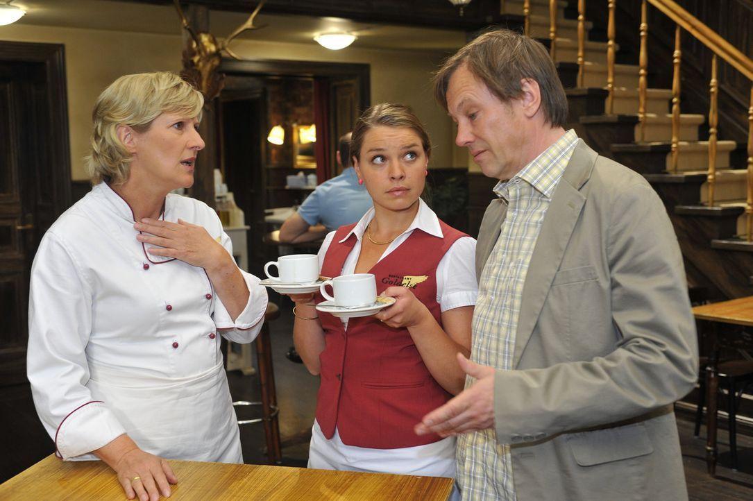 Armin (Rainer Will, r.) kann Susanne (Heike Jonca, l.) und Katja (Karolina Lodyga, M.) mit einer soliden Geschäftsidee beeindrucken - allerdings nu... - Bildquelle: Sat.1