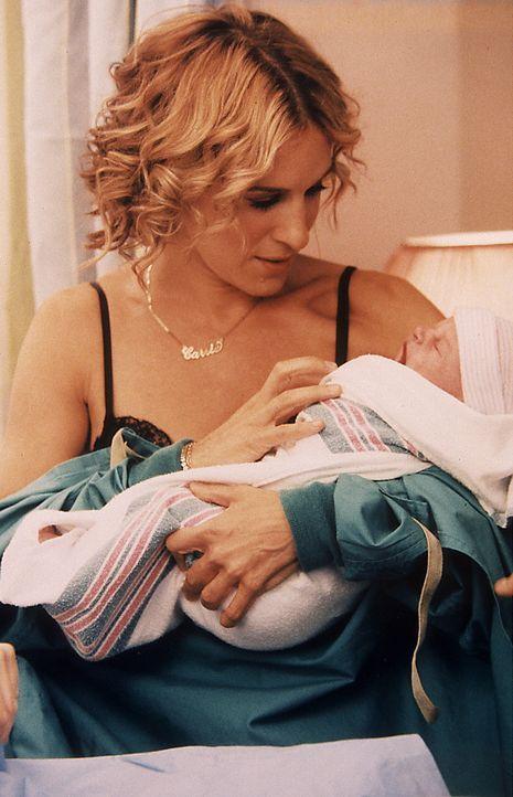 Miranda bringt mit Unterstützung von Steve und Carrie (Sarah Jessica Parker) einen gesunden Jungen zur Welt. - Bildquelle: Paramount Pictures