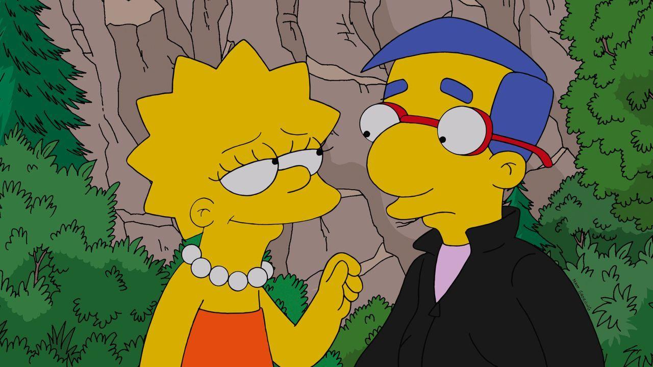 Milhouse (r.) hat eine neue Taktik entwickelt, um Lisa (l.) endlich rumzukriegen. Doch wird er Erfolg damit haben? - Bildquelle: und TM Twentieth Century Fox Film Corporation - Alle Rechte vorbehalten