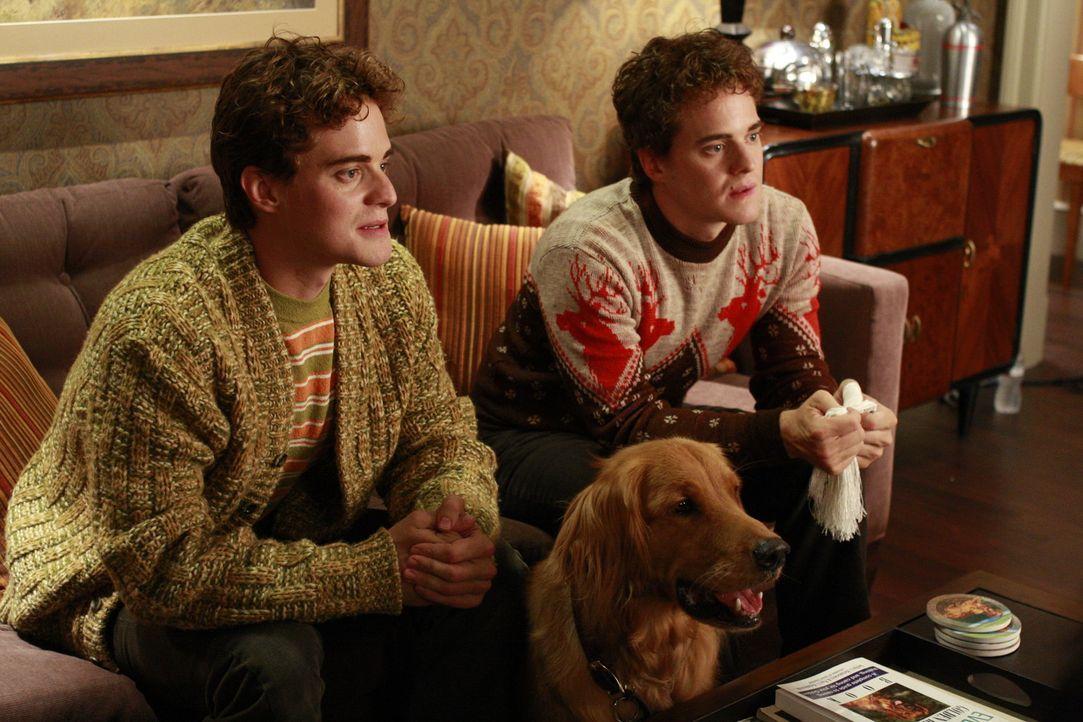 Neds Halbbrüder: die Zwillinge Ralston (Graham Miller) und Maurice (Alex Miller) ... - Bildquelle: Warner Brothers
