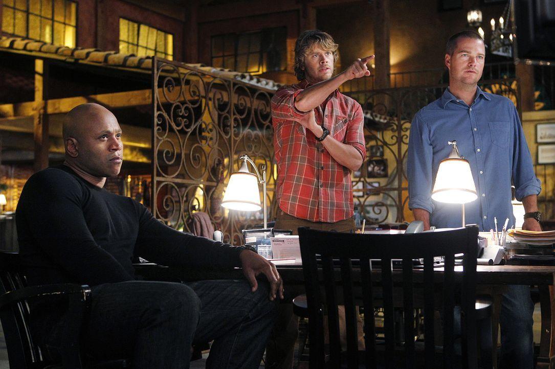 Die Ermittlungen in einem neuen Fall entwickeln sich nicht so, wie es sich das Team vorgestellt hat: Callen (Chris O'Donnell, r.), Sam (LL Cool J, l... - Bildquelle: CBS Studios Inc. All Rights Reserved.