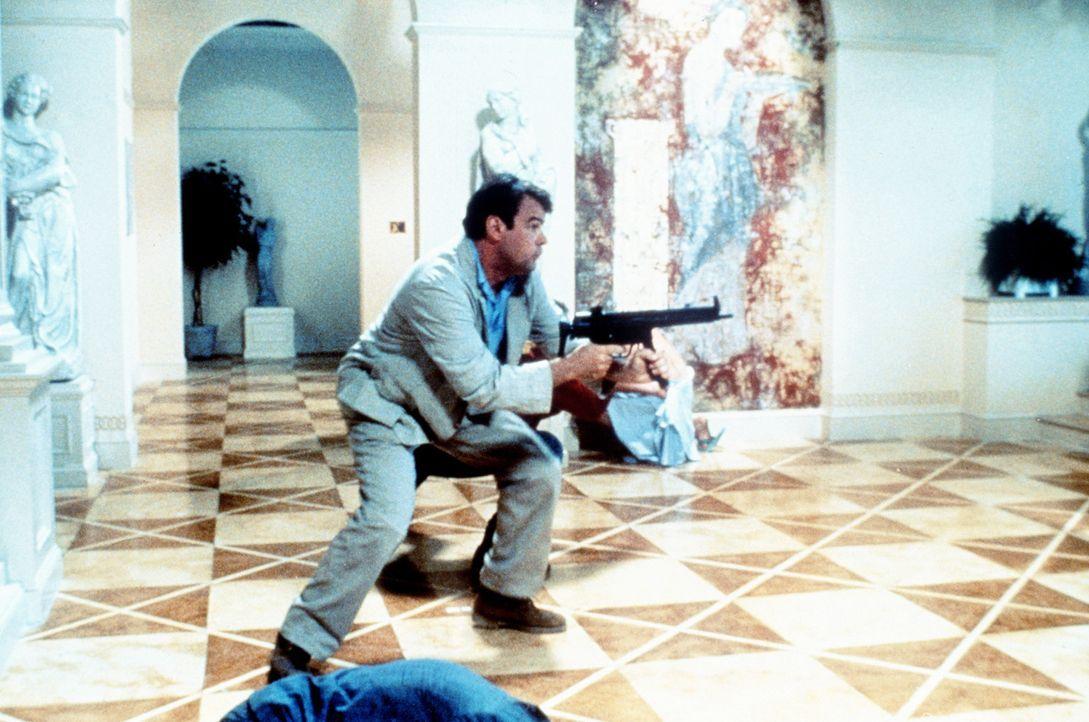Im Notfall muss auch der etwas verweichlichte Ellis (Dan Aykroyd) zur Waffe greifen ... - Bildquelle: TriStar Pictures
