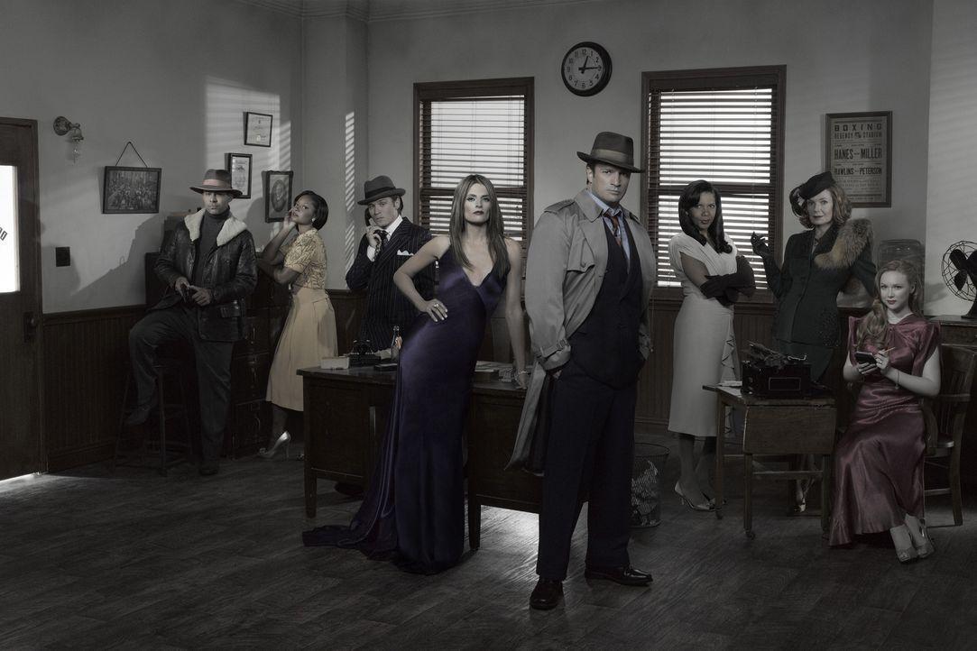 (4. Staffel) - Viele spannende Fälle warten auf (v.l.n.r.) Javier Esposito (Jon Huertas), Lanie Parish (Tamala Jones), Kevin Ryan (Seamus Dever), Ka... - Bildquelle: ABC Studios