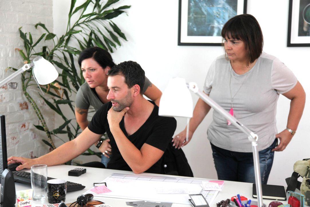 Antonia Knopf (l.) kämpft gemeinsam mit ihrem Team, Iris Hauser (r.) und Chris Brandt (M.), für ihre Auftraggeber ... - Bildquelle: SAT.1